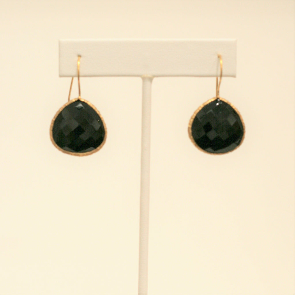 Felix + Lola Onyx Drop Earrings - Closeout