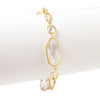 Rock Crystal Satin Link Bracelet