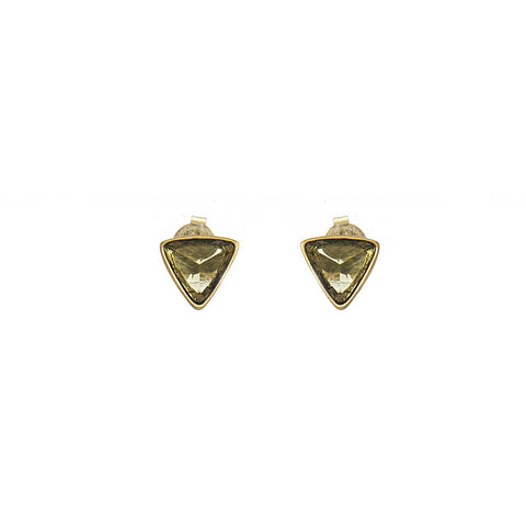 Peridot Trillium Stud Earrings