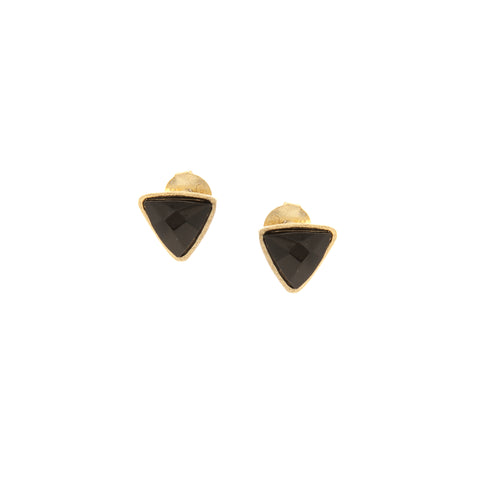 Onyx Trillium Stud Earrings