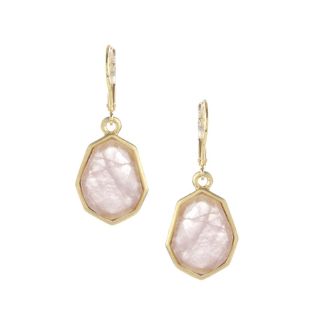 Quartz Deco Drop Earrings