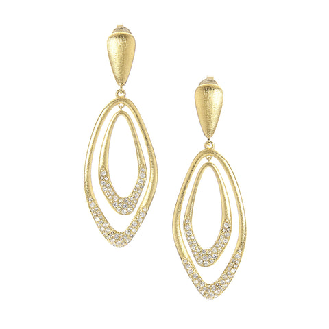 Simulated Diamond Satin Earrings
