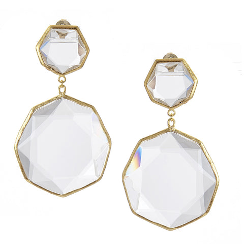 Rock Crystal Deco Earrings