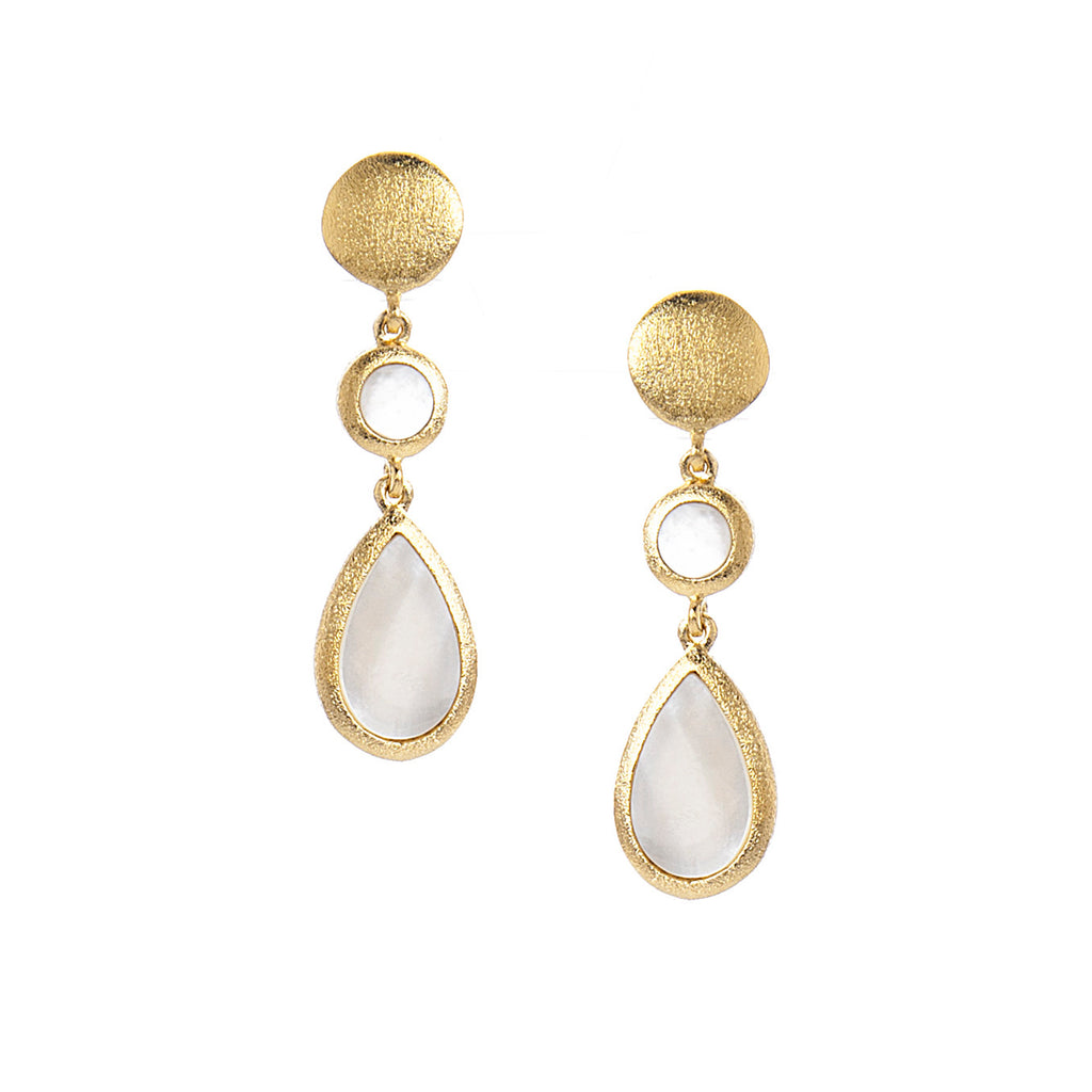 Mother of Pearl Double Drop Dangles - Closeout