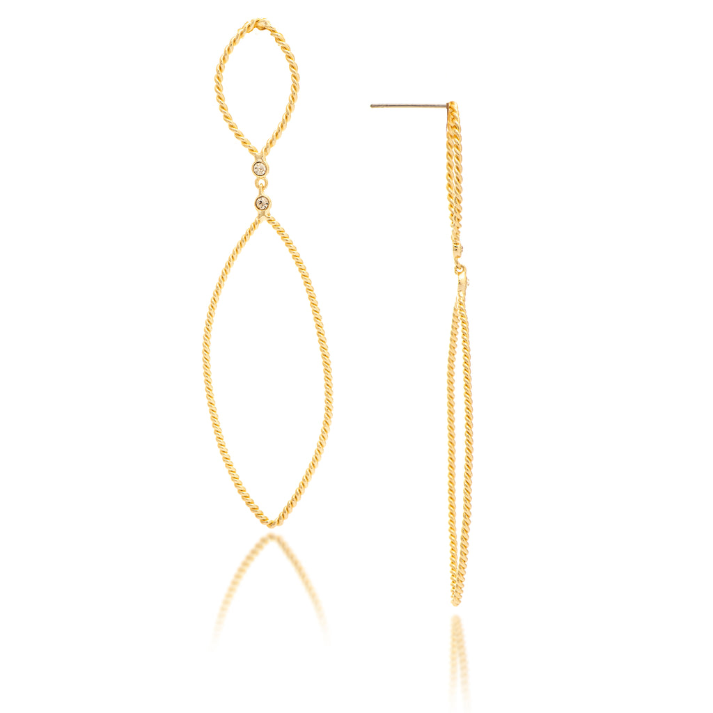 Twisted Marquise Drop Earrings