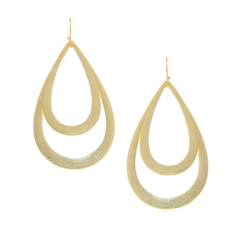Bold Double Teardrop Dangle Earrings