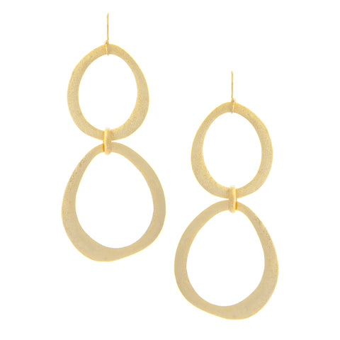Organic Cascading Station Graduated Earrings