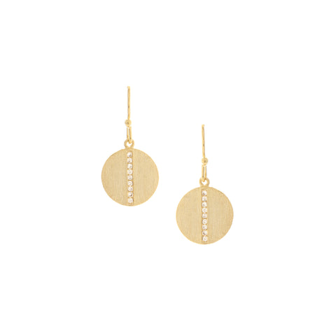 Simulated Diamond Petite Disc Earrings