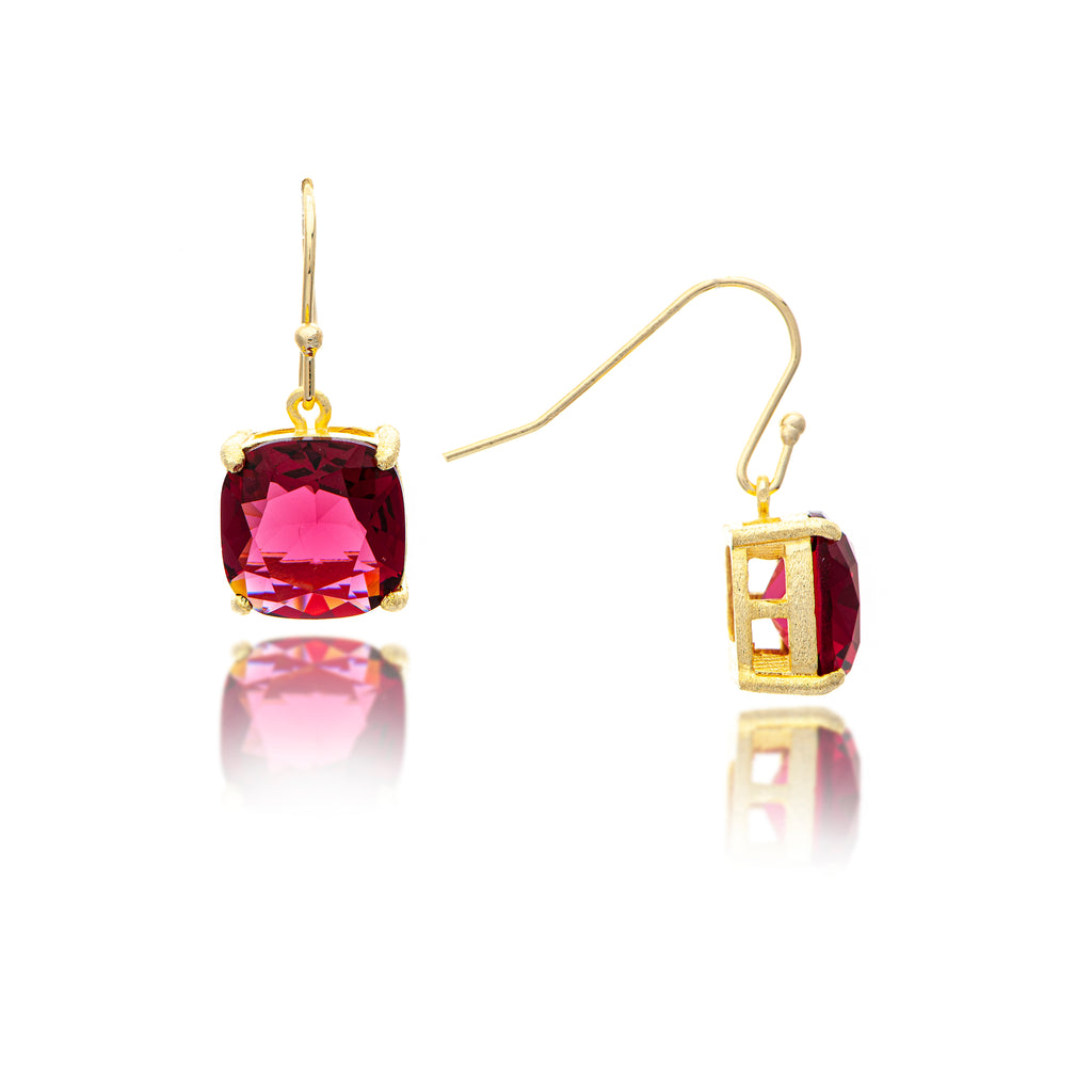 Rubellite Dangle Earrings