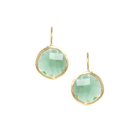 Kiwi Round Drop Earrings
