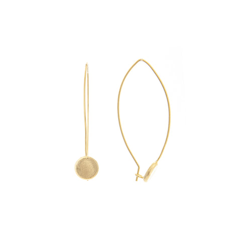 Concave Disc Threader Earrings
