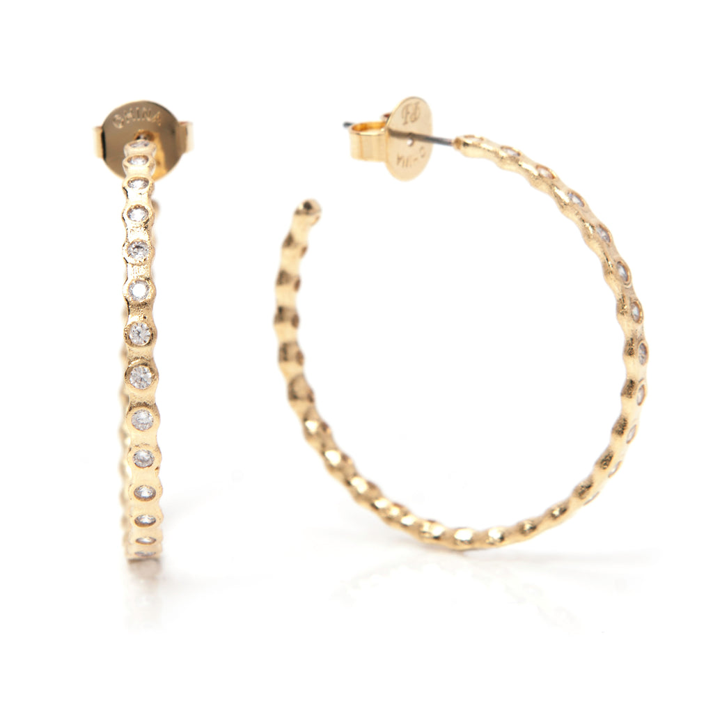 Simulated Diamond Hoop Earrings