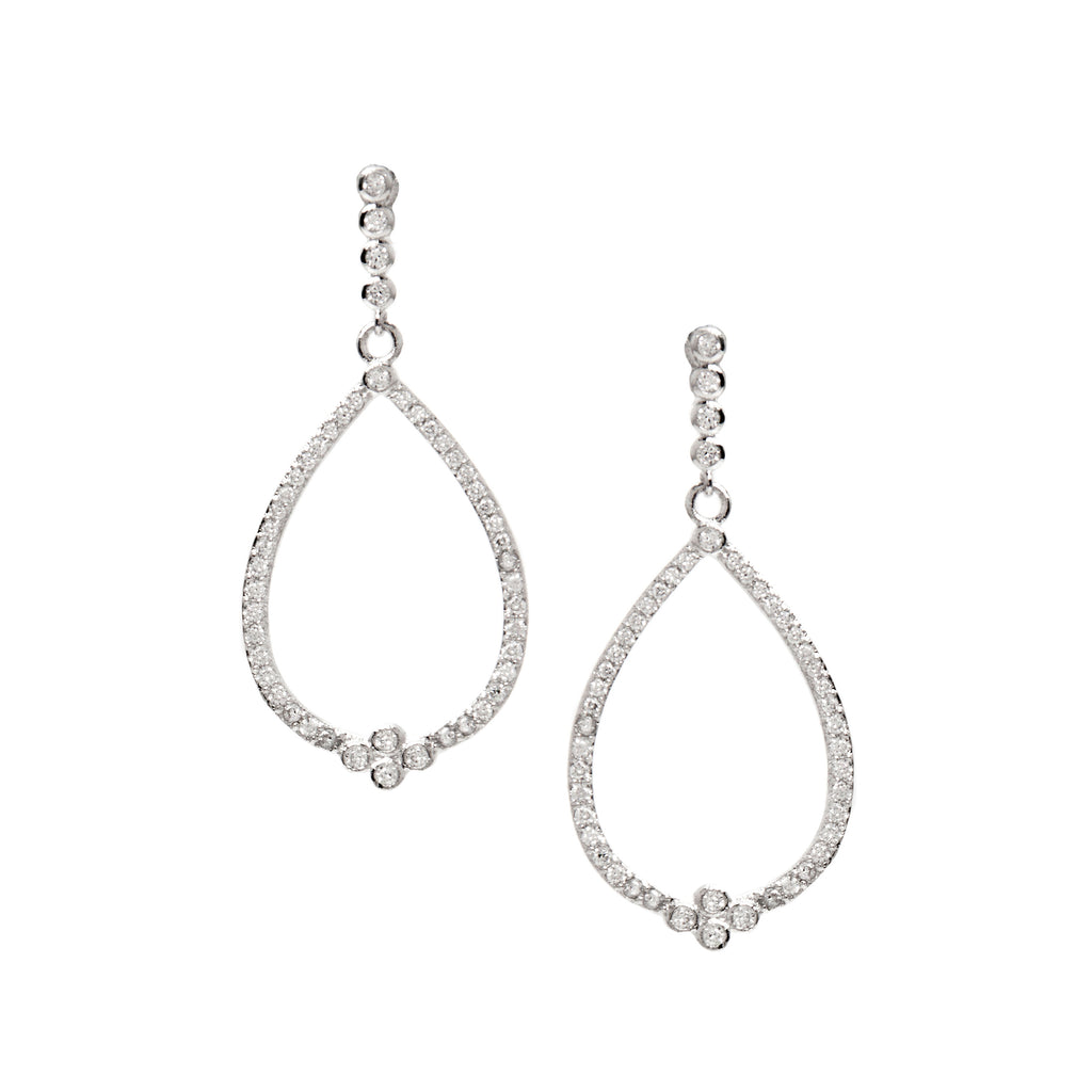 Simulated Diamond Teardrop Earrings
