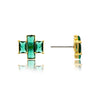 Emerald Triple Emerald Cut Stud Earrings
