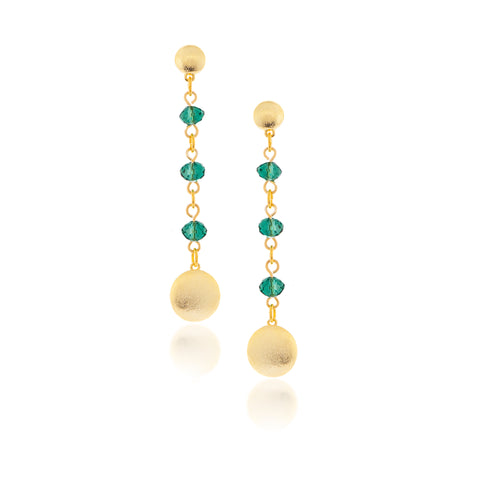 Emerald Cascading Dangle Earrings