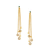 Emerald Crystal Stud Cascading Dangle Earrings