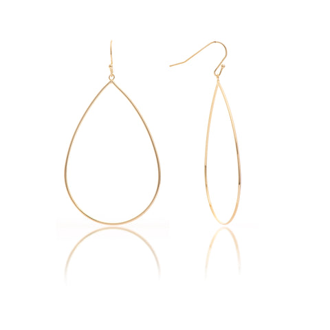Polished Oversized Teardrop Earrings