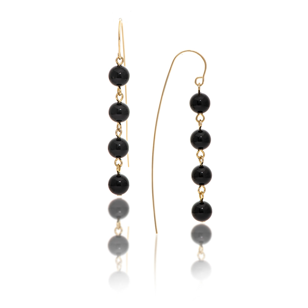 Onyx Bead Threader Dangles