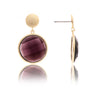 Amethyst Bezel Dangle Earrings