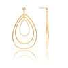 Triple Teardrop CZ Statement Earrings