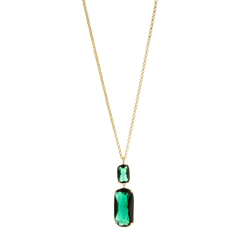 Emerald Double Drop Pendant