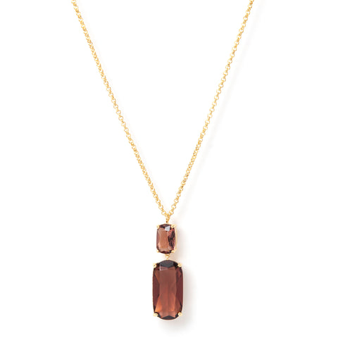 Tourmaline Double Drop Pendant