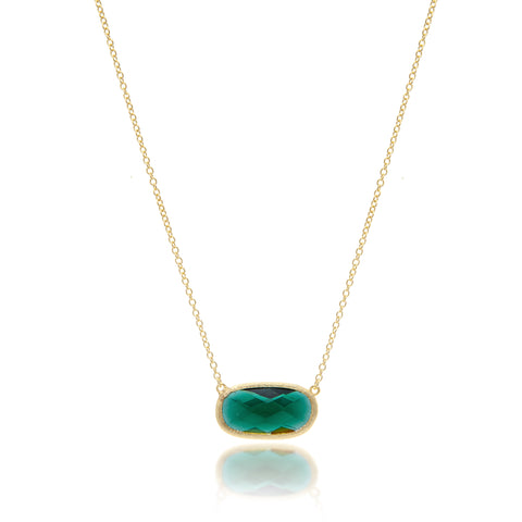 Emerald Oval Station Necklace