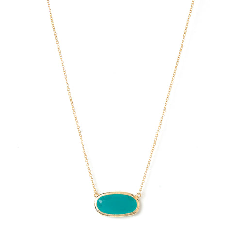 Chalcedony Oval Station Necklace
