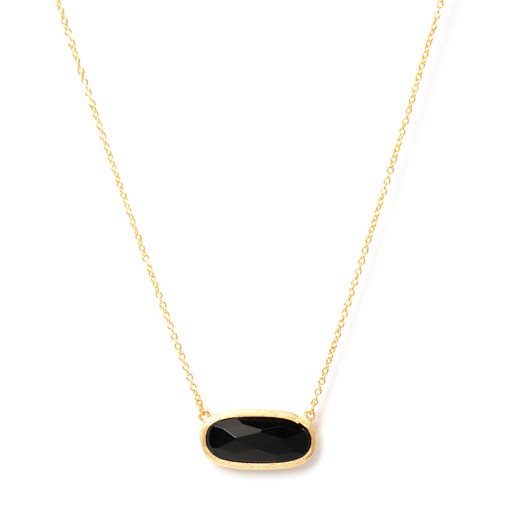 Onyx Oval Station Necklace