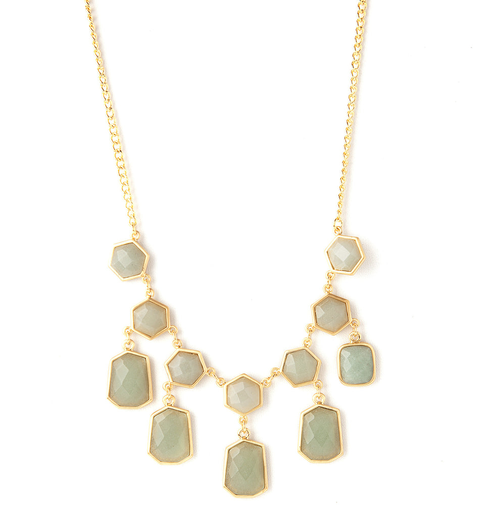 Green Aventurine Statement Necklace - Closeout
