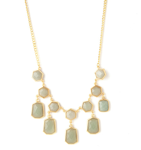 Green Aventurine Statement Necklace
