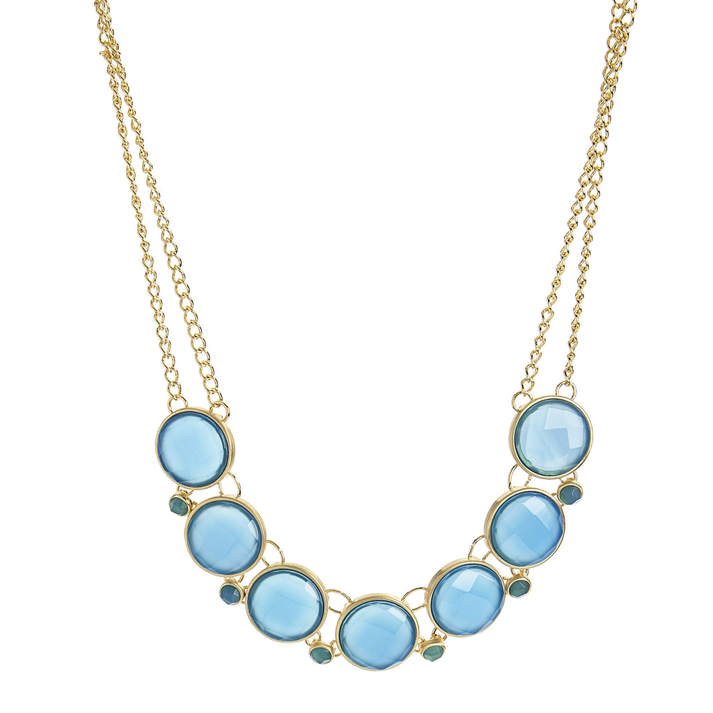 Blue Onyx Statement Necklace