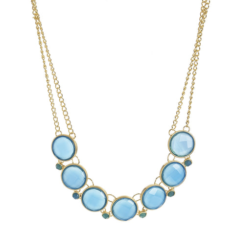 Blue Onyx Statement Necklace - Closeout