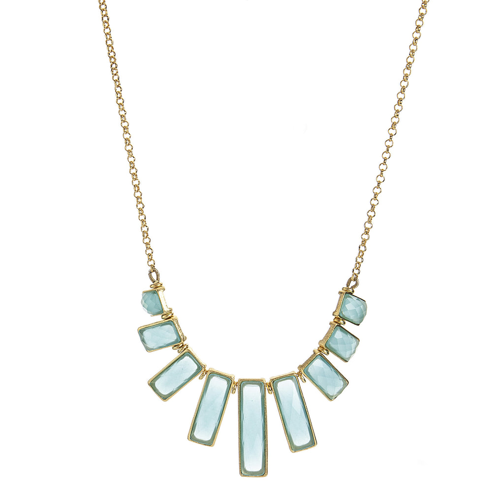 Mint Chalcedony Statement Necklace