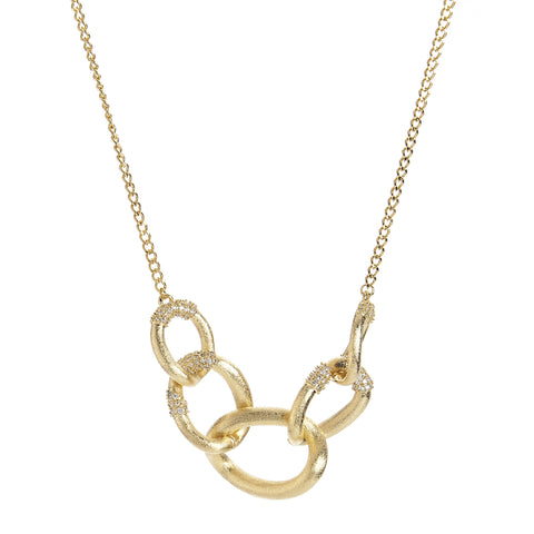 Simulated Diamond Link Necklace - Closeout