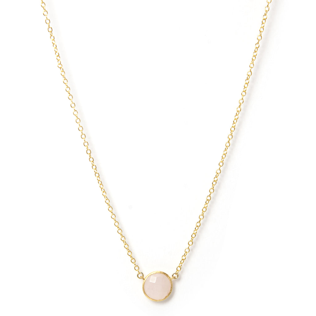 Rose Quartz Petite Station Necklace