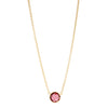 Round Faceted Rubellite Crystal Pendant