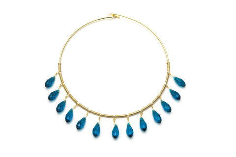 London Blue Briolette Necklace