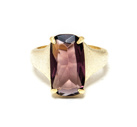 Raspberry Tourmaline Cocktail Ring