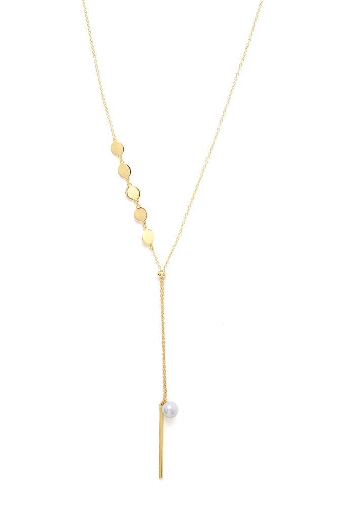 Felix + Lola Pearl + Disc Y Necklace - Closeout