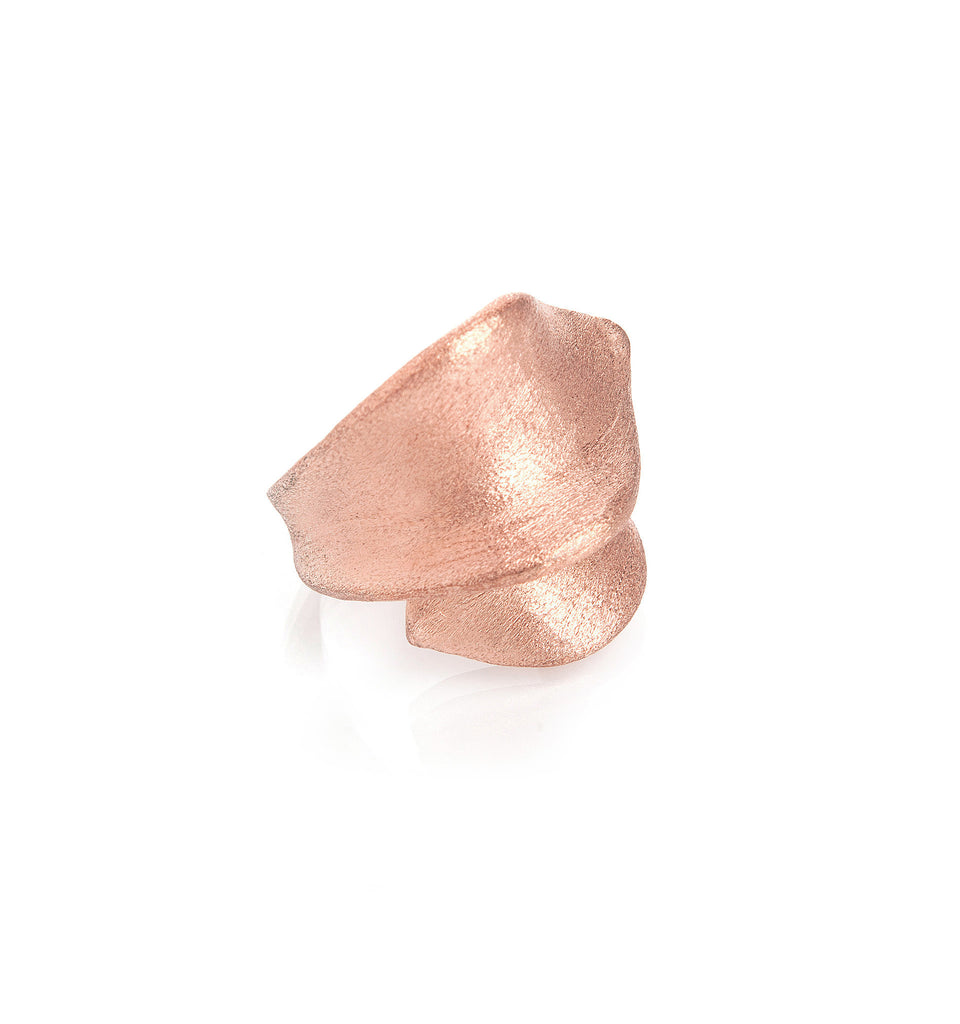 Rose Gold Clad Ribbon Ring