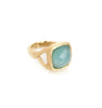 Caribbean Blue Quartzite Twisted Shank Ring
