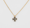 Felix + Lola Black Rhodium Petite White Topaz Cross Pendant - Closeout