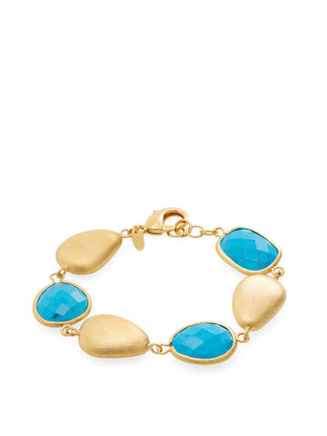 Magnesite + Satin Pebble Bracelet - Closeout