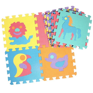 10 Piece Pattern Foam Puzzle Play Mat