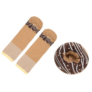 Chocoloate Glazed Doughnut Socks