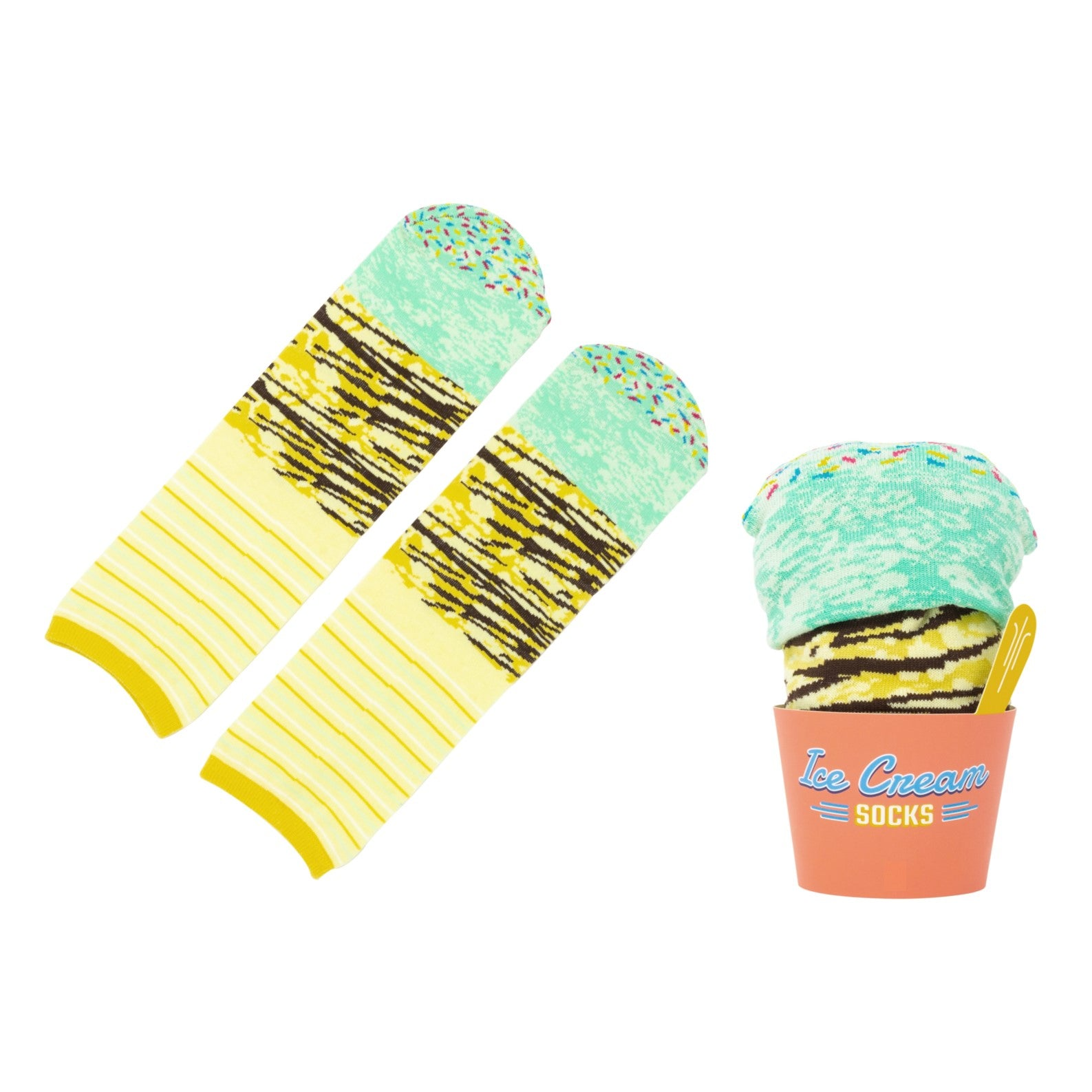 Mint Chocolate Ice Cream Socks