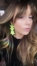 Load and play video in Gallery viewer, Neon Dream Star Earrings