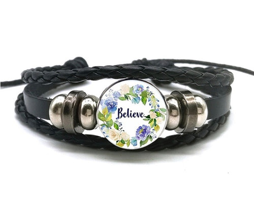 Believe - Snap Jewelry Charm Bracelet
