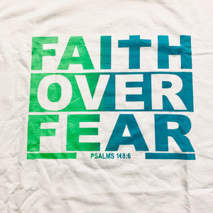 Faith Over Fear(T-Shirt)White/MultiFade